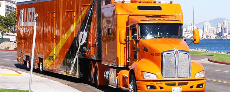 Allied Truck driving on road