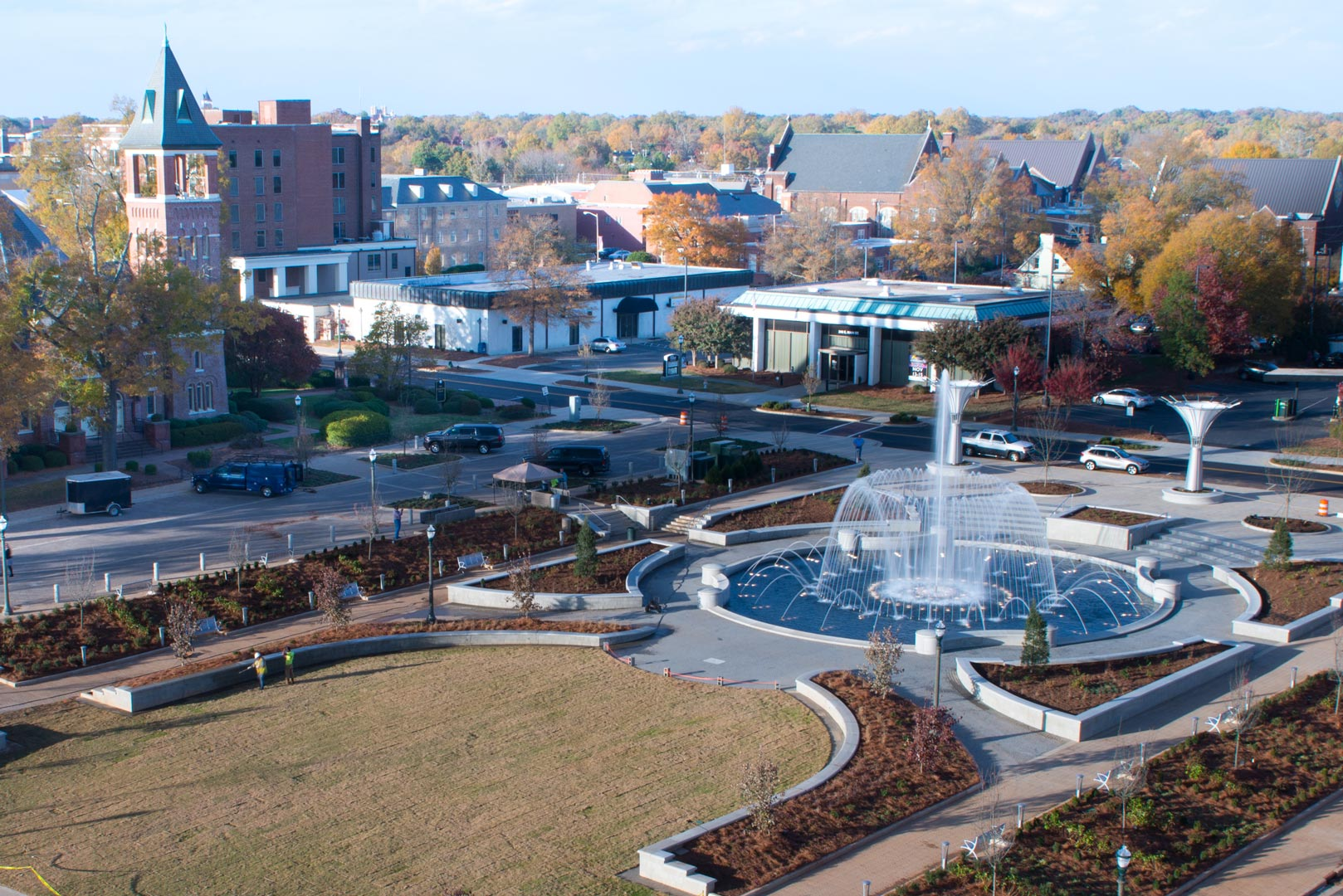Rock Hill city scape in the fall