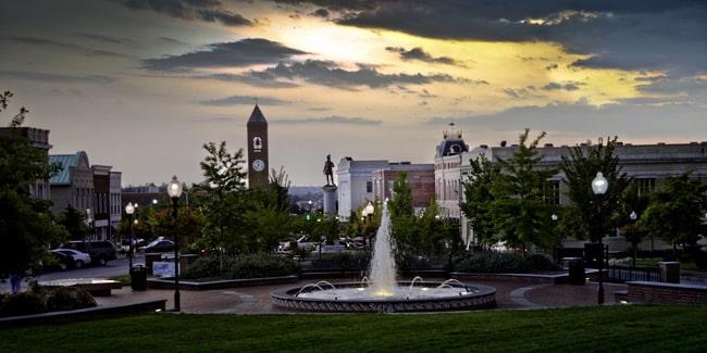Spartanburg cityscape