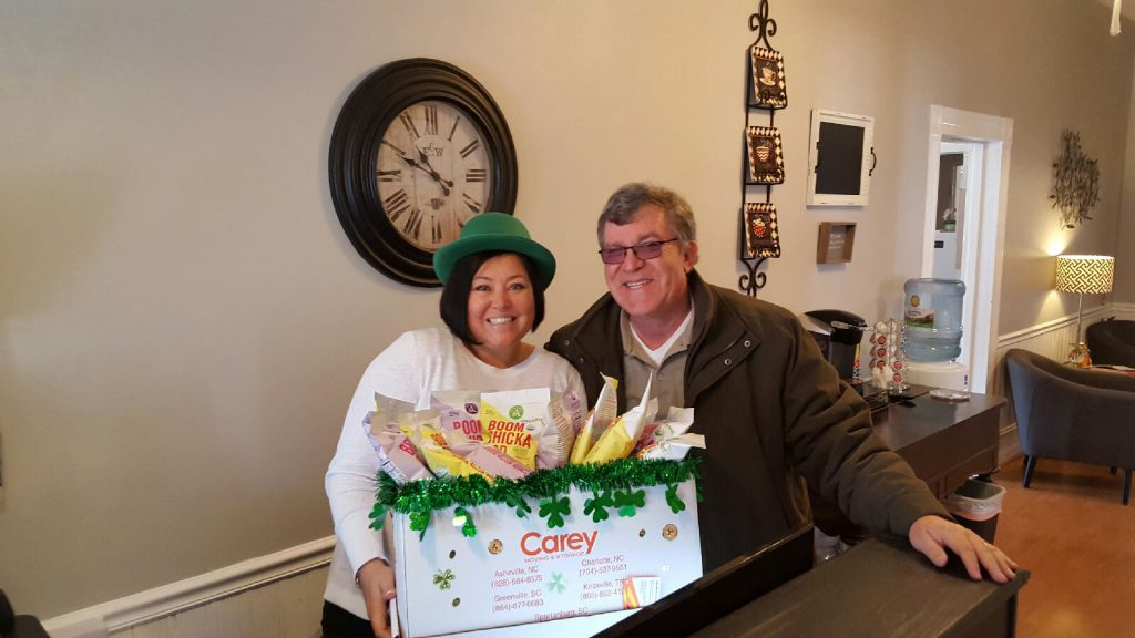 Neal delivers St Patrick's Day goodies to Four Seasons